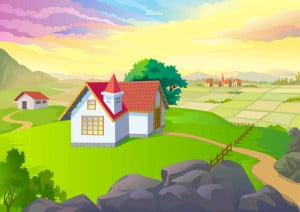 Farm House Background